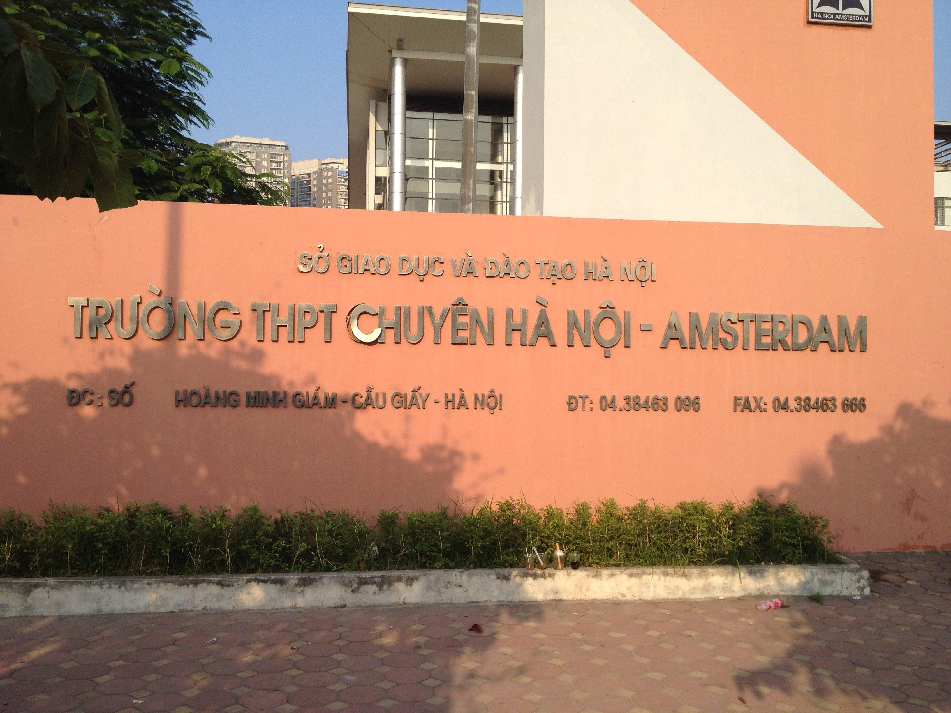 THPT Chuyên Hà Nội - Amsterdam