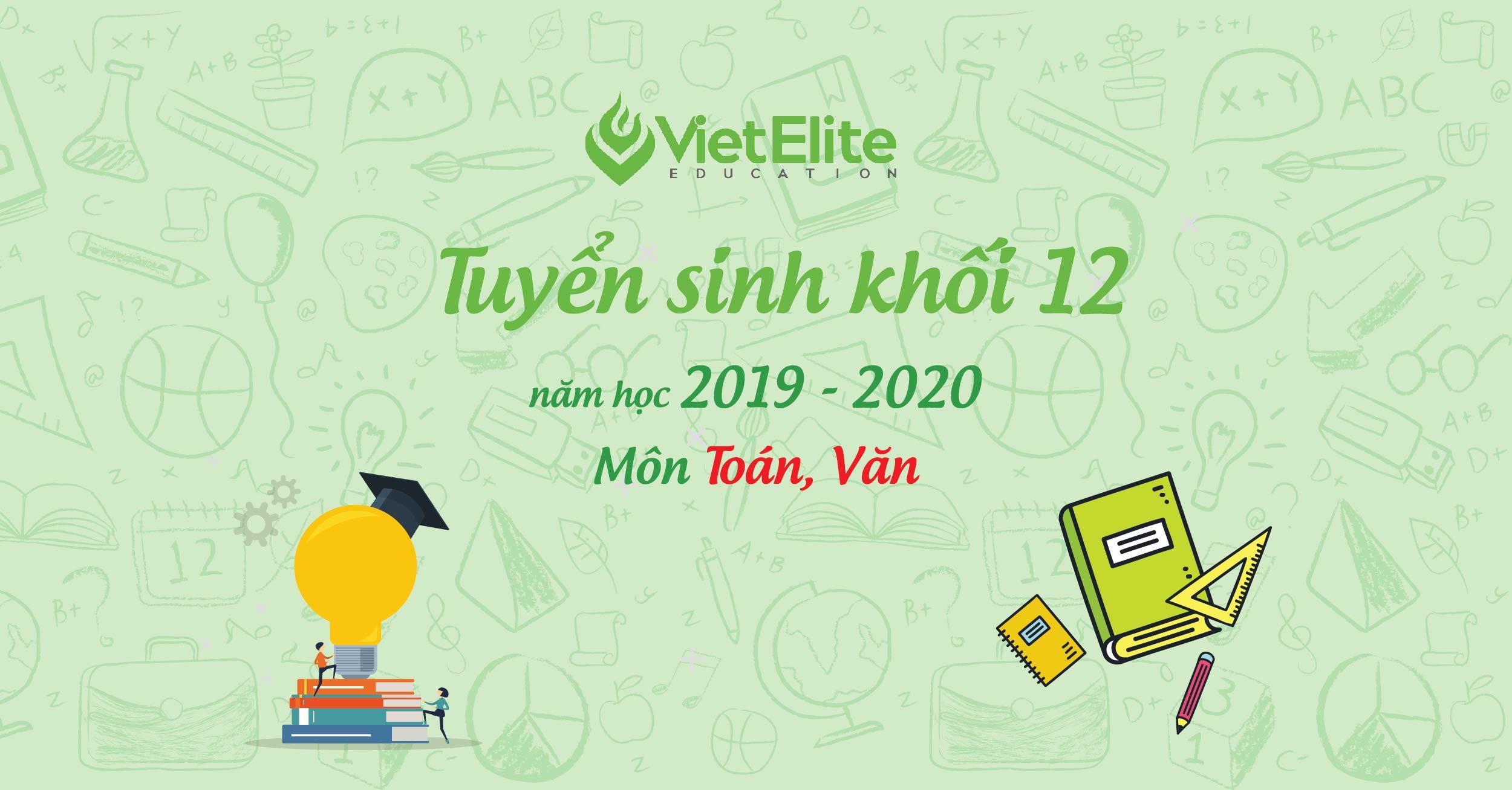 Tuyển sinh khôi 12 năm học 2019 - 2020