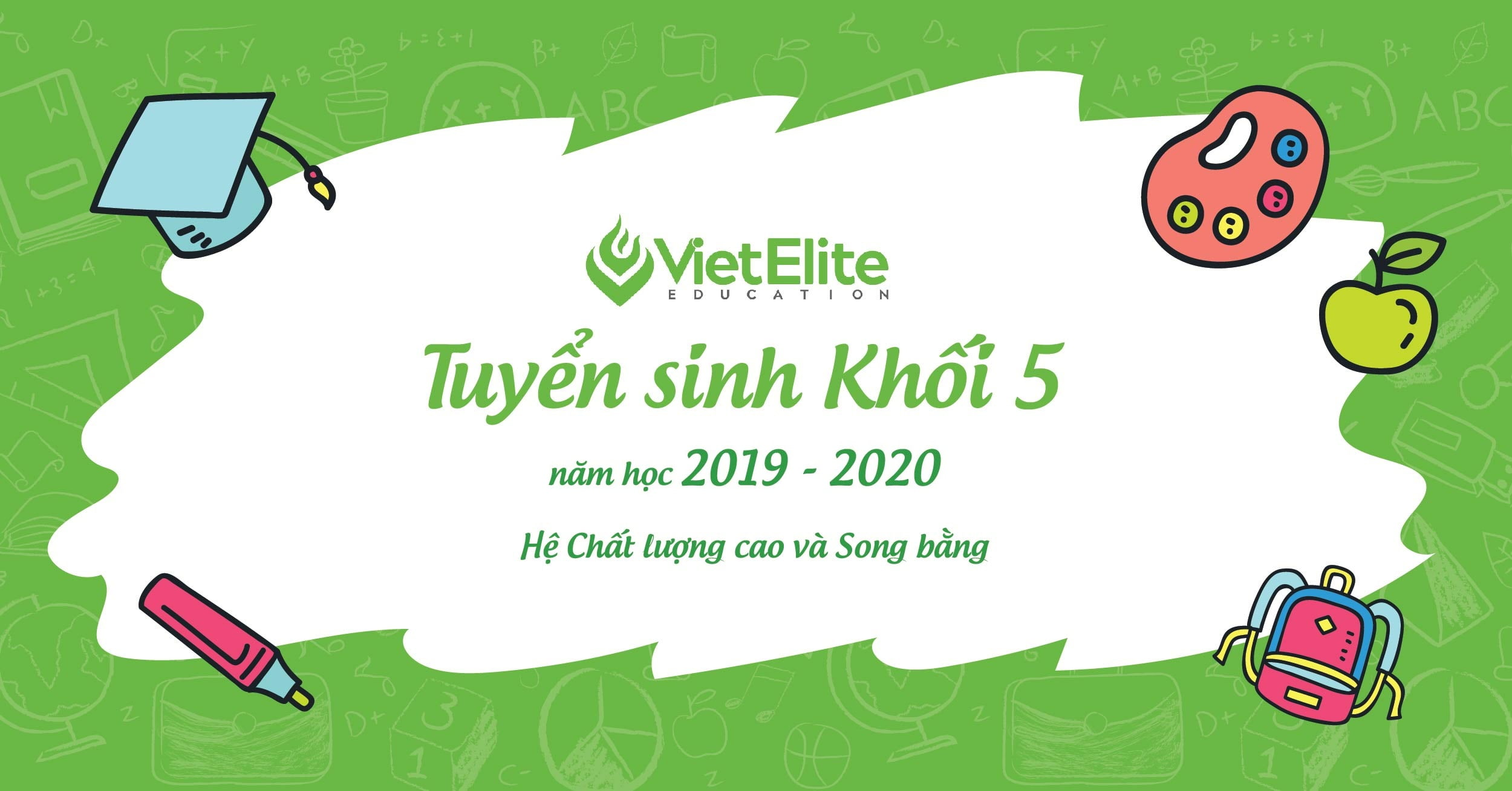 Tuyển sinh khôi 5 năm học 2019 - 2020