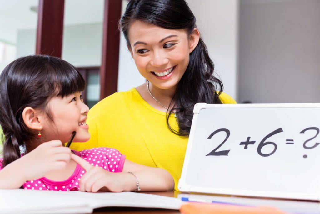 cùng con học toán tại nhà